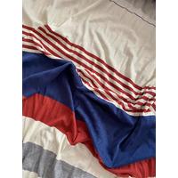 Lot de 2 panneaux jersey léger diverses rayures 75 x 160 cm soit 1m50 x 160 cm