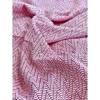 Jersey texturé rouge et blanc 20 x 145 cm