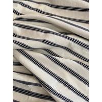 Jersey texturé marine et blanc cassé 20 x 140 cm