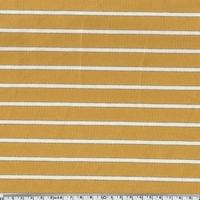 Sweat léger rayé moutarde écru lurex 20 x 140 cm