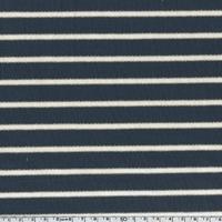 Sweat léger rayé marine lurex 20 x 140 cm