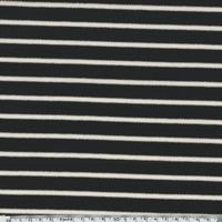 Sweat léger rayé noir lurex 20 x 140 cm