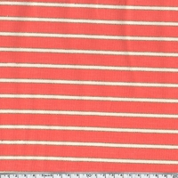 Sweat léger rayé corail lurex 20 x 140 cm