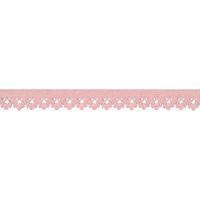 Elastique dentelle 13mm coloris Baby rose x10cm