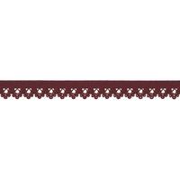 Biais élastique dentelle 13mm coloris Bordeaux x10cm