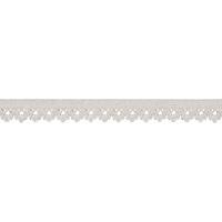 Elastique dentelle 13mm coloris Blanc cassé x10cm