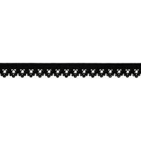 Biais élastique dentelle 13mm coloris Noir x10cm
