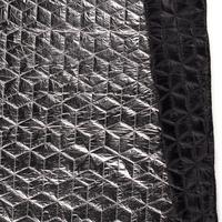Tissu matelassé argenté envers noir 20 x 140 cm