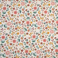 Jersey fleurs d'automne 20 x 140 cm