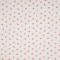 Jersey fluo petites fraises 20 x 140 cm