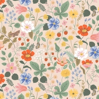 Tissu Rifle Paper Strawberry Fields Blush 20 x 110 cm