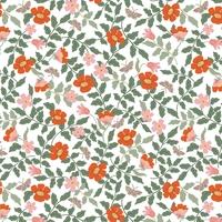 Tissu Rifle Paper Strawberry Fields Primrose ivoire 20 x 110 cm