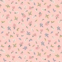 Tissu Rifle Paper Strawberry Fields Petites fleurs Blush 20 x 110 cm