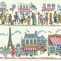 Tissu Paris Ville 20x110 cm