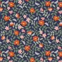 Tissu Rifle Paper Strawberry Fields Primrose navy 20 x 110 cm