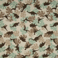 Jersey dinosaures camouflage 20 x 140 cm