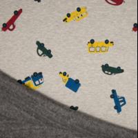 Molleton voitures envers minky 20 x 140 cm