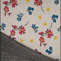 Molleton fleurs envers minky 20 x 140 cm