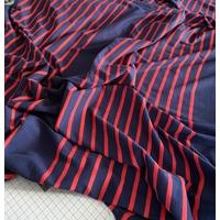Lot de 4 panneaux de jersey fin 9 cm marine / 31 cm rayé marine rouge / 9 cm uni / 31 cm rayé / 9 cm uni / 31 cm rayé / 9 cm uni / 31 cm rayé x 175 cm soit 1m60 x 175 cm