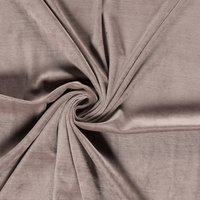 Jersey velours lisse (nicky) coloris taupe 20 x 140 cm