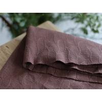 Jacquard de coton bio coloris Dust Brown 20 x 170 cm