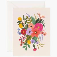 Carte double Garden Party Blush avec enveloppe