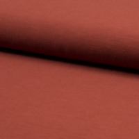 Tissu viscose et lin coloris rouille 20 x 135 cm