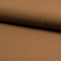 Tissu viscose et lin coloris tabac 20 x 135 cm
