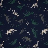 Jersey squelettes de dinosaures 20 x 140 cm
