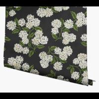 Papier peint Hydrangea Black and White