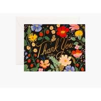 Carte double Strawberry Fields Thank you avec enveloppe