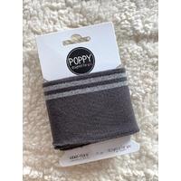 Bord-côte Poppy Cuffs gris et argent