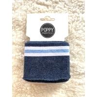 Bord-côte Poppy Cuffs marine chine / blanc / bleu