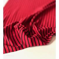 COUPON de jersey rayé rouge et noir 1m60 x 135 cm