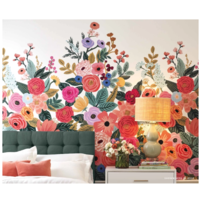 Panoramique intissé (papier peint) Garden Party Rose H 340 cm - L 168,9 cm