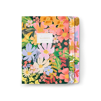 Set de 3 cahiers Marguerite avec couverture en tissu