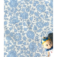 Popeline Liberty D'Anjo Sky coloris A bleu 20 x 145 cm