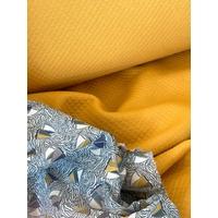Jersey mini matelassé uni moutarde 20 x 140 cm