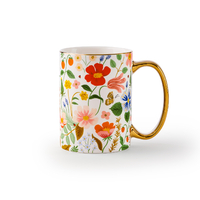 Mug en porcelaine Strawberry fields 470 ml