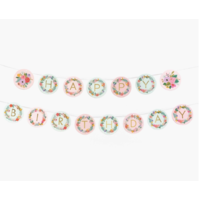 Set de 72 lettres et 8 fleurs pour composer une guirlande