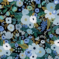 Coton Rifle Paper Garden Party Blue 20 x 110 cm