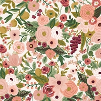 Coton Rifle Paper Garden Party Rose 20 x 110 cm