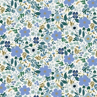 Coton Rifle Paper Garden Party Wild Rose Blue 20 x 110 cm