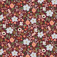 Coton Rifle Paper Garden Party Wild Rose Burgundy 20 x 110 cm