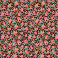 Coton Rifle Paper Garden Party Rosa Burgundy 20 x 110 cm