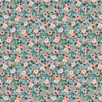 Coton Rifle Paper Garden Party Rosa Chambray 20 x 110 cm