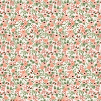 Coton Rifle Paper Garden Party Rosa Rose 20 x 110 cm