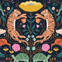 Tissu Our Planet Harmony fond foncé 20 x 110 cm