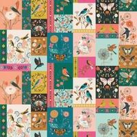 Tissu Aviary vignettes 20 x 110 cm