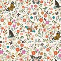 Tissu Aviary papillons 20 x 110 cm